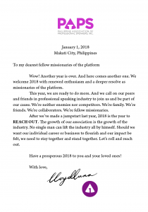President's New Year's Greeting 2018